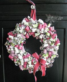 DIY Holiday Wreaths • Lots of tutorials, including this DIY curled paper wreath by 'My Stamp Lady'!
