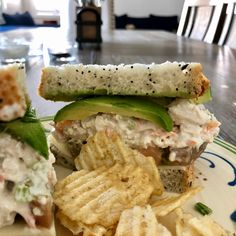 """It's official. I make a mean chicken salad sandwich. And by """"mean,"""" I mean really delicious . Stop Eating, Clean Eating, Multigrain, Salad Sandwich, Heirloom Tomatoes, Portion Control, Chicken Salad, Nom Nom, Sandwiches"""