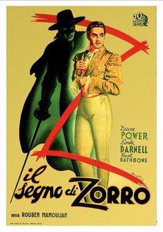 1940 Mark of Zorro Italian poster
