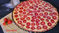 Túróhabos epres diétás pite zabpehelylisztből 1