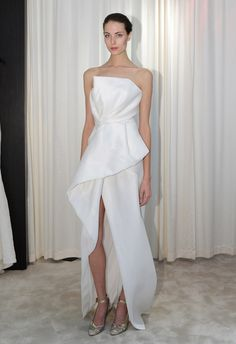 High slit wedding dress by J. Mendel | Hottest Dresses from New York Bridal Fashion Week Spring 2015