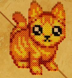 Marmalade Kitty perler beads by cephalo786 on deviantart
