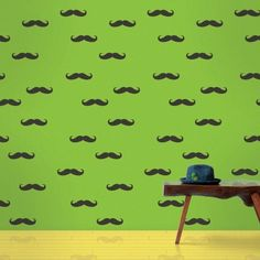Mustache  Peel and Stick Wallpaper - Wall Sticker Outlet