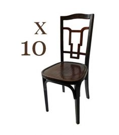A set of ten bentwood dining chairs  Italy, c.1930.   W.40 x D.42 x H.96cm