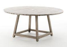 Sika-Design - George havebord er fremstillet i genbrugs-teak, så du er sikker på at få et bord med patina. Det runde havebord giver en hyggelig atmosfære. Bordet har behagelig fodstøtte, som giver dig en ekstra god komfort. Der er plads til en parasol i midten af bordet, som gør designet helt unikt på en sommerdag. Der kan forekomme reparationer i overfladen.