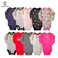 Bayi Romper Anak Musim Gugur Pakaian Set Bayi perempuan Jumpsuit 3 PCS Boy Rompers Lengan Panjang Rompers Bayi Pakaian bayi Set