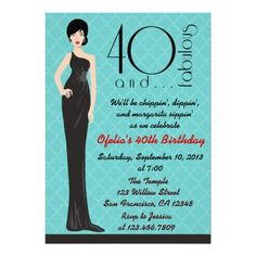 Classy 40th Birthday Invitation Invitations Parties Party Themes Template