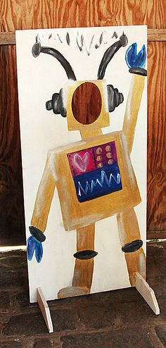 Photo props at parties are always a big hit. Here's how we made this robot.
