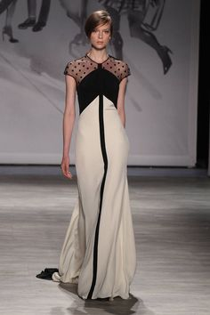 Lela Rose. Black and Beige. Want. All The Gowns From Spring 2015 - NYFW - Elle