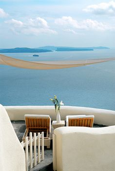 Private Balcony View at Mystique of Santorini