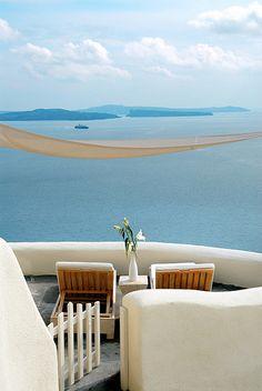 Private Balcony View at Mystique of Santorini