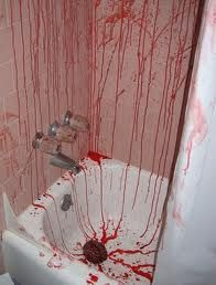 1000 images about blood fetish on pinterest bath mats for Psycho shower curtain and bath mat
