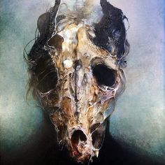 Eric Lacombe is a French graphic designer, digital artist and a self-taught painter who makes of his melancholy a wonderful harmony.