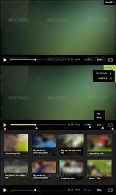Minimalistic Player Design  #GraphicRiver         Nice minimalistic Video Player Design.  	 PSD includes: — Main interface — Hover states of all elements — End screen     Created: 14October11 GraphicsFilesIncluded: PhotoshopPSD Layered: Yes MinimumAdobeCSVersion: CS3 Tags: interface #minimal #player #ui #video