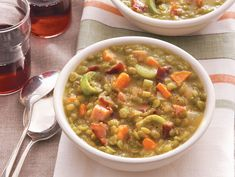 Split Pea Soup With Ham #recipe #light #healthy
