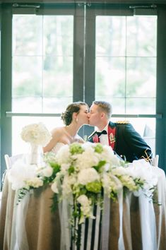 We love all the natural light the Grand Hall offers for wedding receptions.  Faith Teasley Photography