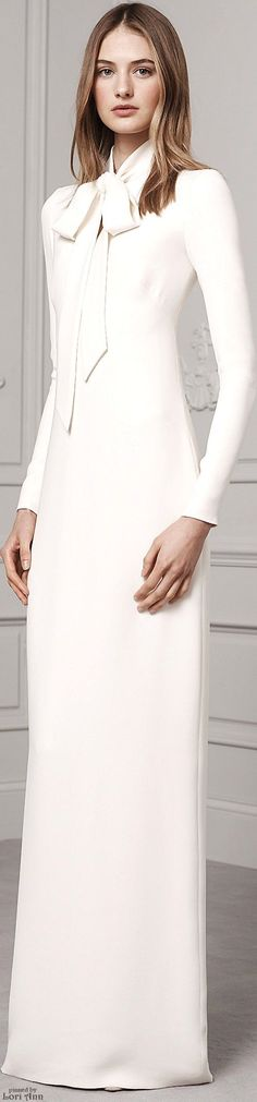 nice Ralph Lauren Pre-Fall 2016 white maxi women fashion outfit clothing style appare...