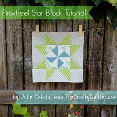 I have the cutest quilt block to share with you! I made a Pinwheel Star, which is just my name for it....