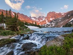 Lake Isabelle Sunrise - Indian Peaks Wilderness, Colorado : Mountain photography by Aaron Spong