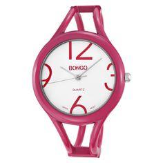 http://monetprintsgallery.com/bongo-womens-bg3134-analog-white-dial-fuchsia-pink-enamel-bangle-watch-p-1053.html