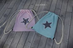 NuuTikki: Jumppapussit ohjeineen Diy Bags Purses, Hobbies And Crafts, Handicraft, Drawstring Backpack, Sewing Projects, Barbie, Pouch, Google, First Class
