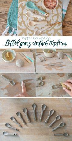 Ceramic Spoons, Ceramic Clay, Ceramic Pottery, Pottery Art, Diy Clay, Clay Crafts, Keramik Design, Pottery Handbuilding, Pottery Videos