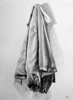 The jacket - Pencil drawing - object drawing