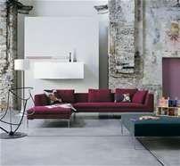 "Sofa: CHARLES - Collection: B&B Italia - Design: Antonio Citterio  100"" wide"