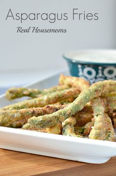Asparagus Fries | Real Housemoms | #asparagus #appetizer #asparagusfries