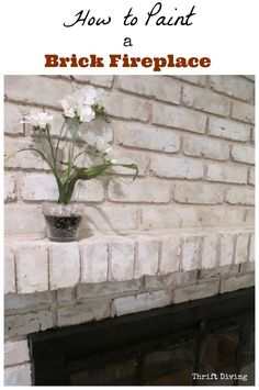 Looking for a tutorial on how to paint a brick fireplace? Using Brick Anew, I finally got rid of my old dark, red brick fireplace, for a brighter look!