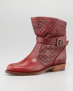 Dorado Short Woven Ankle Boot by Frye at Neiman Marcus.