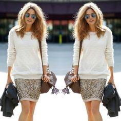 paetê e tricot
