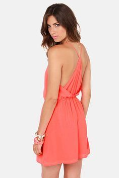Show and Tell Coral Dress via lulus.com