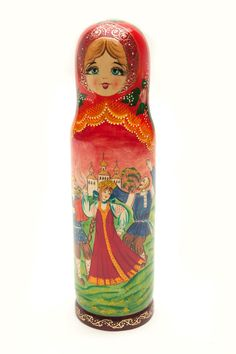 Matryoshka Russian Nesting Doll @flea_pop Russian Fashion, Bottle Holders, Artist At Work, Own Home, Objects, Dolls, Disney Princess, Fun, Style