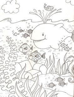 Kleurplaat: onderwaterwereld