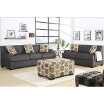 POUNDEX Furniture - 2 PC Montreal Ash Black Sofa Set - F7447/F7446