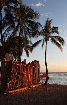 Hawaii Surf, Image Surf, Surf Van, Summer Vibes, Summer Sun, Surfboard Rack, Hawaii Pictures, Hawaii Pics, Images Esthétiques