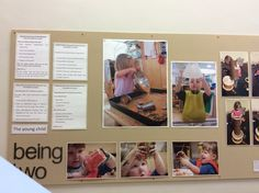 Great examples of characteristics of effective learning in display room - 2 year olds