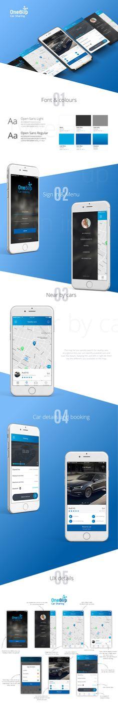 OneBlip mobile app on Behance