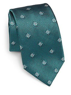 Brioni Mini Medallion Silk Tie