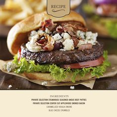 Celebrate #MemorialDay with our Red, White, and Blue Cheese Burger!  #Recipe