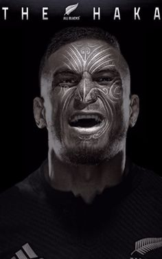 "All Blacks rugby - ""Sonny Bill Williams Haka"" poster created by Gordon Tunstall using Adobe Photoshop - 2015 All Blacks Rugby Team, Nz All Blacks, Rugby Wallpaper, Black Wallpaper, Maori Face Tattoo, Maori Tattoos, Sonny Bill Williams, Rugby Games, Wales Rugby"