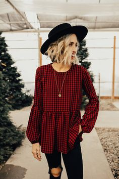 Nowell Gingham Blouse | ROOLEE
