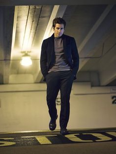 He looks great walking with his hands in his pockets. | Jake Gyllenhaal's Details Cover Will Make You Weep