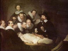 Rembrandt Harmensz. van Rijn. Anatomie des Dr. Tulp.1632, Öl auf Leinwand, 169,5 × 216,5cm.Den Haag, Königliche Gemäldegalerie Mauritshuis.Niederlande (Holland).Barock. KO 00723