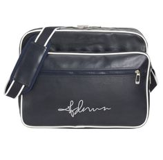 "Madonna ""Autograph"" Shoulder Bag by Slazenger™ £79.00  Premium-quality travel bag by leading brand Slazenger™      Large 16cm embroidered Madonna autograph motif     100% high-grade PVC     Zipper     Lining     Studded feet on base"