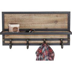 Coat Rack Cottage - KARE Design Kare Design, Metal Furniture, Pallet Furniture, Wall Mounted Coat Rack, Reclaimed Timber, Cottage, Coat Stands, Dark Walls, Living Styles