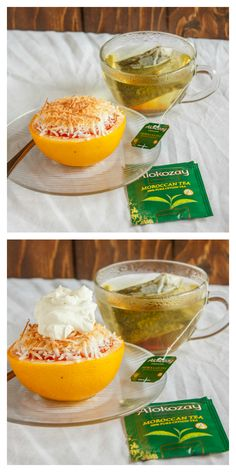 Roasted Grapefruit with Moroccan Tea Whipped Cream 7 #TEAdays (minus the coconut)