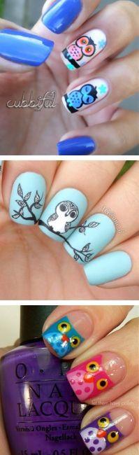 Cute Owl Ideas Nail Art Designs | Fashion Te