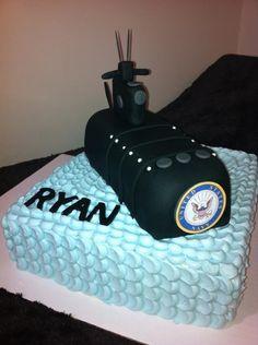Navy Submarine Welcome Home cake!